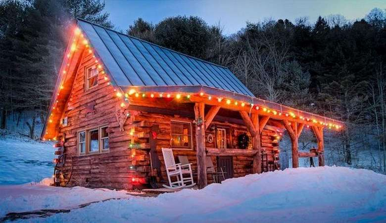 A Little Christmas Cabin In The Woods Is All We Need 27