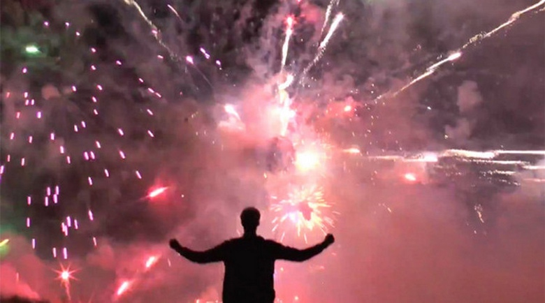 Stop What You're Doing and Watch this 5,000 Firework Deathstar Video