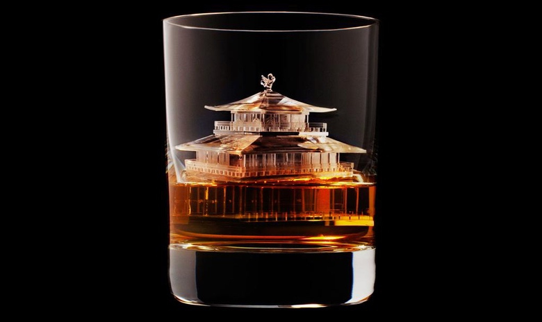 Suntory Whisky Carves Intricate 3D Ice Cubes (1)