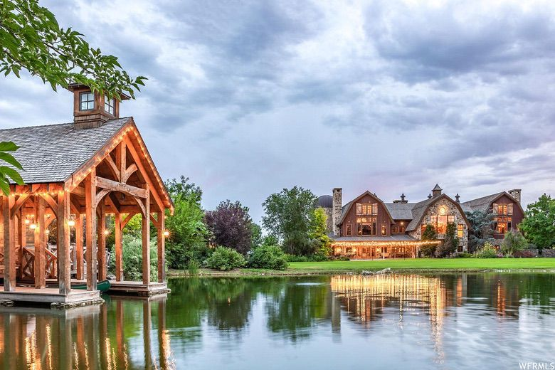 Dream House: Utah Timberframe Luxury Estate Real Estate Home For Sale (1)