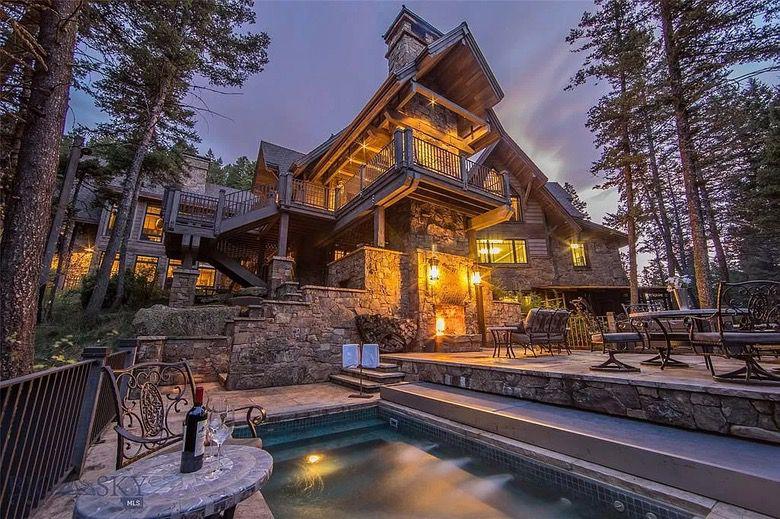 Suburban Men Dream House Bozeman Montana Luxury Rustic Home (1)