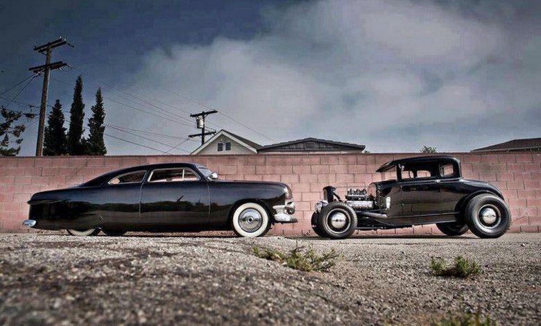 Suburban Men Afternoon Drive: Hot Rods and Rat Rods Restomod Restored